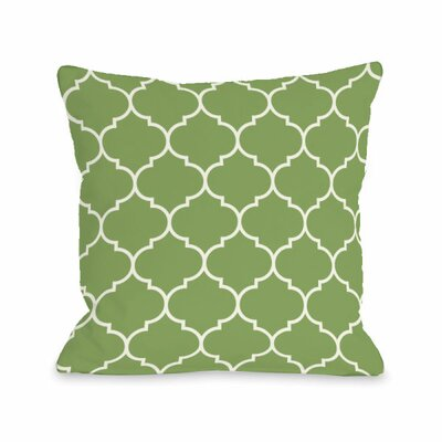 Repeating Moroccan Throw Pillow Size: 18 H x 18 W x 3 D, Color: Olive