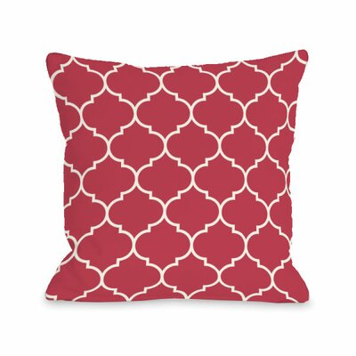 Repeating Moroccan Throw Pillow Size: 16 H x 16 W x 3 D, Color: Rose