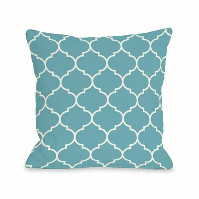 Repeating Moroccan Throw Pillow Size: 16 H x 16 W x 3 D, Color: Sky