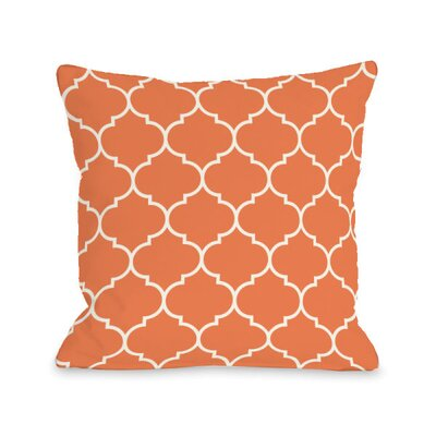 Repeating Moroccan Throw Pillow Size: 18 H x 18 W x 3 D, Color: Tangerine