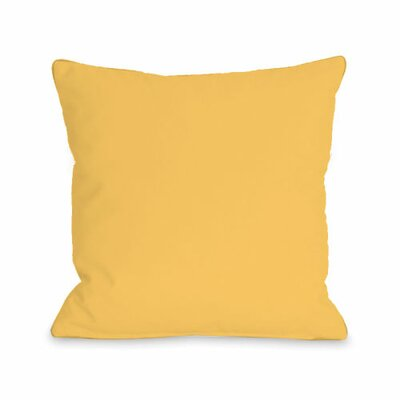 Solid Throw Pillow Size: 16 H x 16 W x 3 D, Color: Dandelion