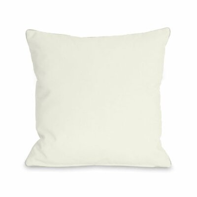 Bilderback Throw Pillow Size: 18 H x 18 W x 3 D, Color: Ivory
