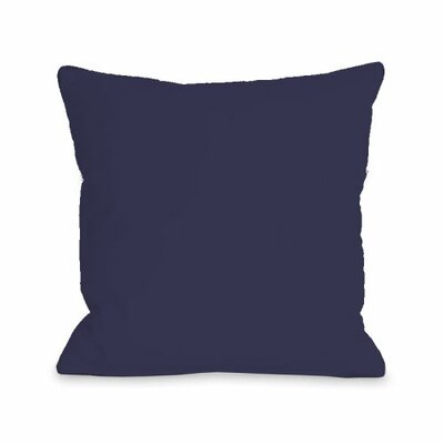Solid Throw Pillow Size: 16 H x 16 W x 3 D, Color: Midnight
