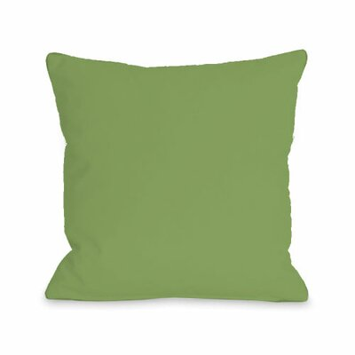 Bilderback Throw Pillow Size: 18 H x 18 W x 3 D, Color: Olive