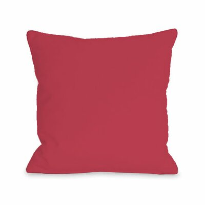 Solid Throw Pillow Size: 16 H x 16 W x 3 D, Color: Rose