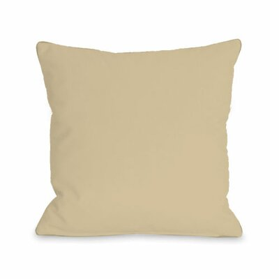 Solid Throw Pillow Size: 16 H x 16 W x 3 D, Color: Sand