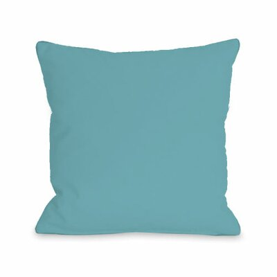 Solid Throw Pillow Size: 16 H x 16 W x 3 D, Color: Sky