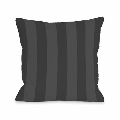 Stripey Throw Pillow Size: 16 H x 16 W x 3 D, Color: Charcoal