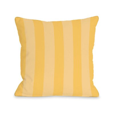 Stripey Throw Pillow Size: 18 H x 18 W x 3 D, Color: Dandelion