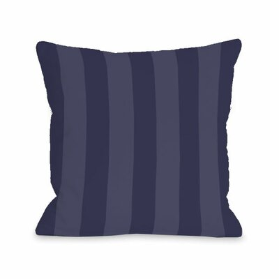 Stripey Throw Pillow Size: 18 H x 18 W x 3 D, Color: Midnight