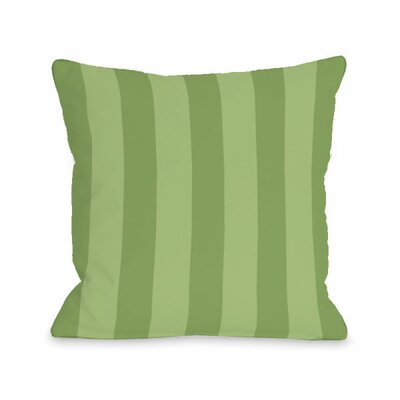 Stripey Throw Pillow Size: 18 H x 18 W x 3 D, Color: Olive