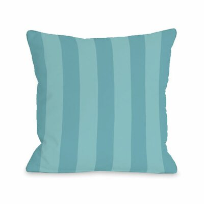 Stripey Throw Pillow Size: 16 H x 16 W x 3 D, Color: Sky