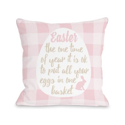 Eggs in One Basket Throw Pillow Size: 18 H x 18 W x 3 D