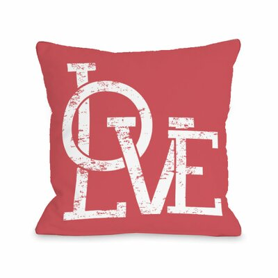 Modern Love Overlap Throw Pillow Size: 18 H x 18 W x 3 D