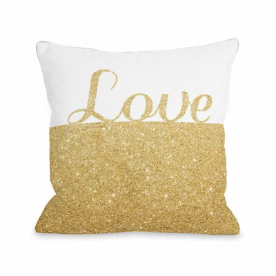 Sparkle Love Throw Pillow Size: 18 H x 18 W x 3 D
