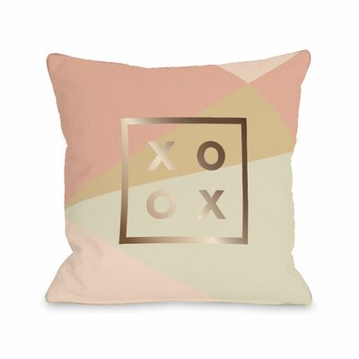XO Geo Metallic Throw Pillow Size: 18 H x 18 W x 3 D