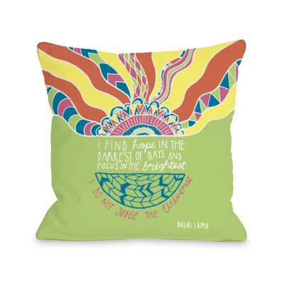 Find Hope in the Darkest Days Throw Pillow Size: 16 H x 16 W x 3 D