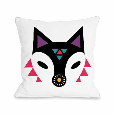Fox Throw Pillow Size: 16 H x 16 W x 3 D