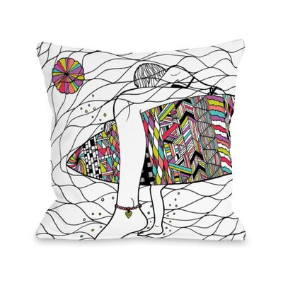 Soul Surfer Throw Pillow Size: 18 H x 18 W x 3 D