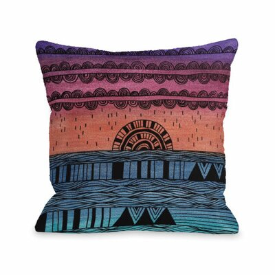 Sunshine Through the Rain Throw Pillow Size: 16 H x 16 W x 3 D