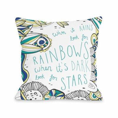 When It Rains Throw Pillow Size: 16 H x 16 W x 3 D