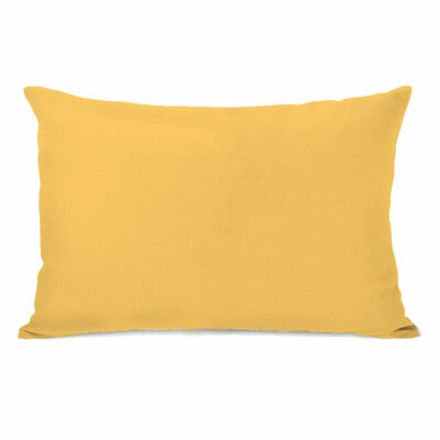 Solid Throw Pillow Color: Dandelion