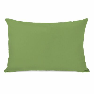 Solid Throw Pillow Color: Olive