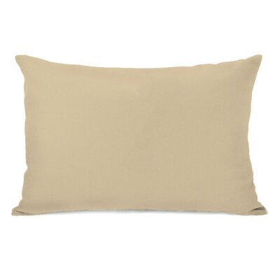 Solid Throw Pillow Color: Sand