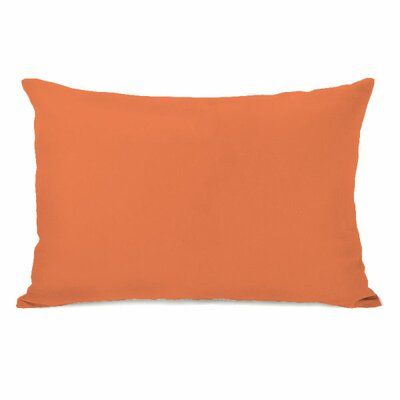 Solid Throw Pillow Color: Tangerine