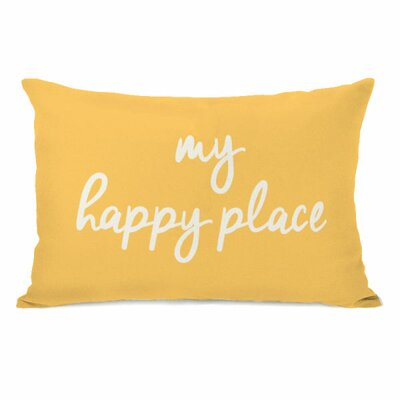 Atherstone My Happy Place Lumbar Pillow Color: Dandelion