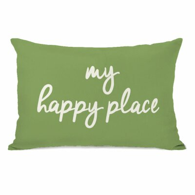 Degeorge My Happy Place Lumbar Pillow Color: Olive