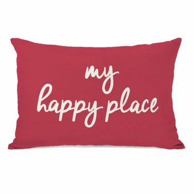 Degeorge My Happy Place Lumbar Pillow Color: Rose