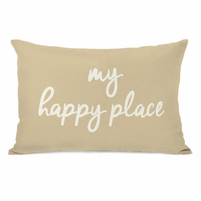 My Happy Place Lumbar Pillow Color: Sand