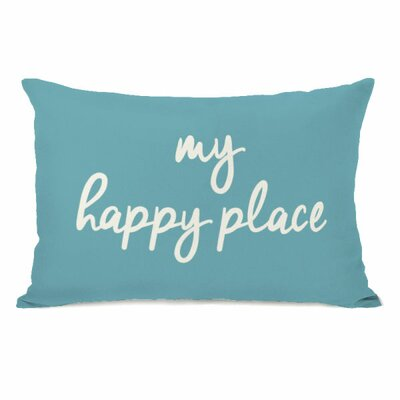 Degeorge My Happy Place Lumbar Pillow Color: Sky