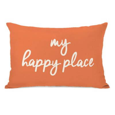 Atherstone My Happy Place Lumbar Pillow Color: Tangerine