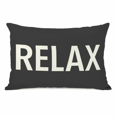 Relax Throw Pillow Color: Charcoal