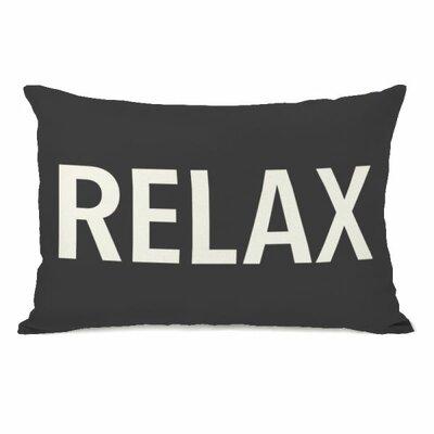 Relax Lumbar Pillow Color: Charcoal
