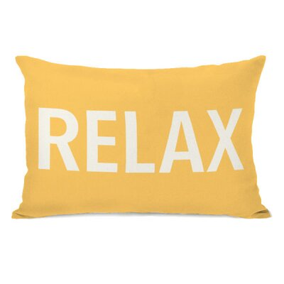 Relax Throw Pillow Color: Dandelion