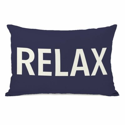 Relax Throw Pillow Color: Midnight