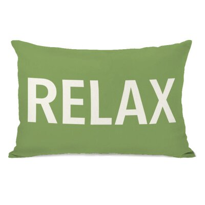 Relax Throw Pillow Color: Olive