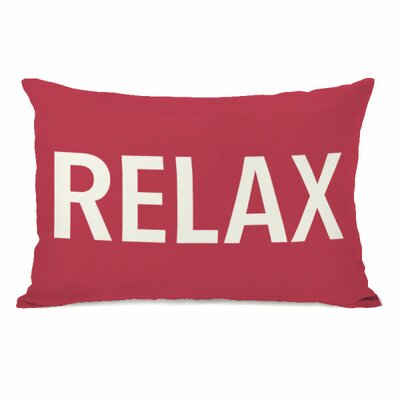 Relax Throw Pillow Color: Rose