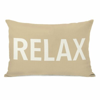 Relax Lumbar Pillow Color: Sand