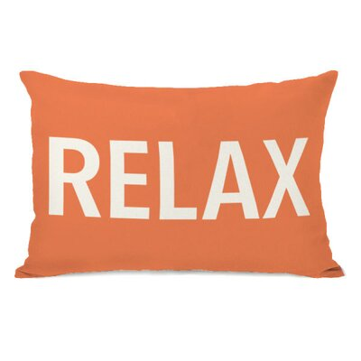 Relax Throw Pillow Color: Tangerine