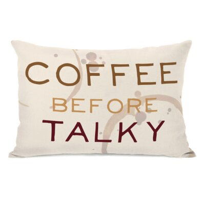 Coffee Before Talky Coffee Ring Lumbar Pillow
