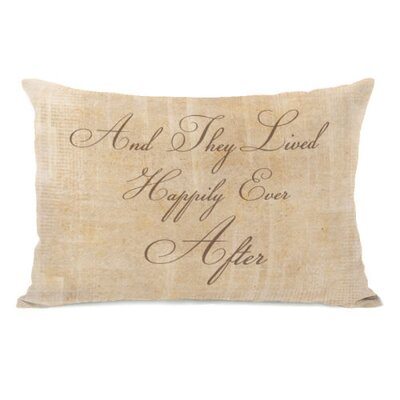 Happily Ever After Stacked Throw Pillow