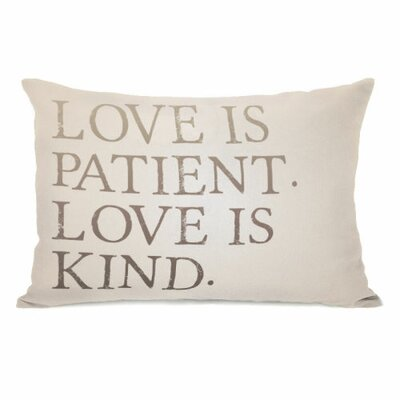 Love is Patient Love is Kind Lumbar Pillow