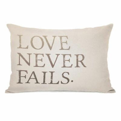 Love Never Fails Throw Pillow