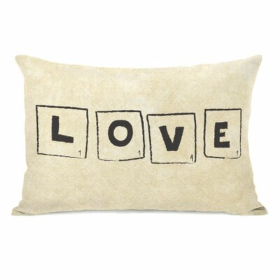 Scrabble Love Throw Pillow