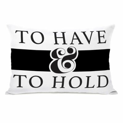 To Have and to Hold Stripe Throw Pillow