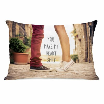 Heart Smile Feet Lumbar Pillow